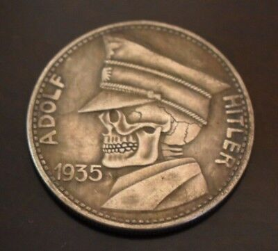 WW2 WWII German Military Leader Coin War Germany Collection Zombie Skull