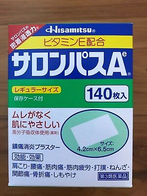 Salonpas Pain Relieving Patches  Patches Expiry 12/2021  Made In Japan