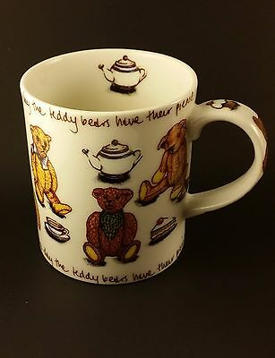 Ted Tea Teddy Bear Tea Coffee Mug Cup Picnic Day by Paul Cardew Classic England