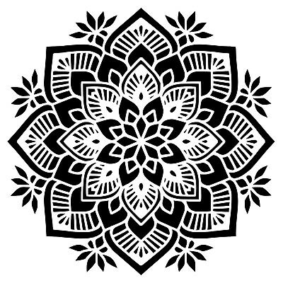 Round Mandala Art Craft Reusable Stencil A 5 4 3 / BIG SIZES /237