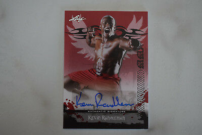 2010 Leaf MMA Auto of Kevin Randleman