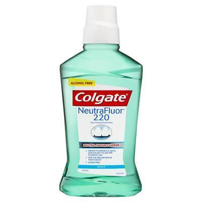 Colgate Neutrafluor 220 Daily Fluoride Mouth Rinse 473Ml Mint Mouthwash
