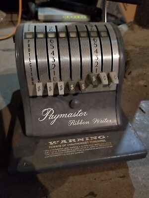 Vintage Collectible PayMaster 8000 series check writer.