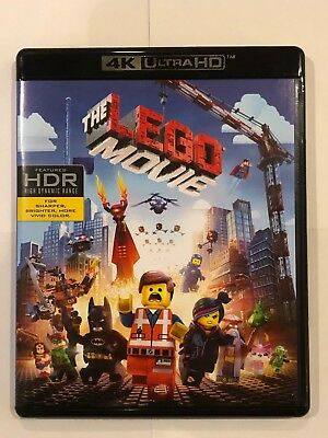 The Lego Movie (4K Ultra HD Disc ONLY) w/ ARTWORK + CASE! NEVER VIEWED! SEE INFO