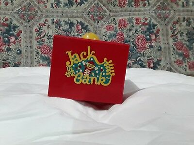 Vintage 1950's Jack In The Bank Original Box Plastic Coin Bank