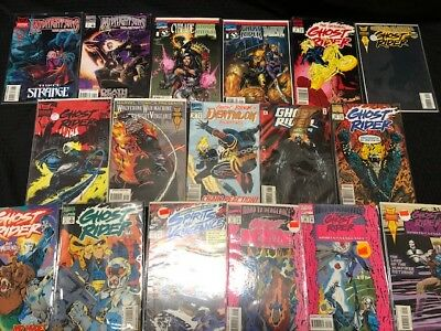 Lot of 17 Ghost Rider Marvel Comic Books