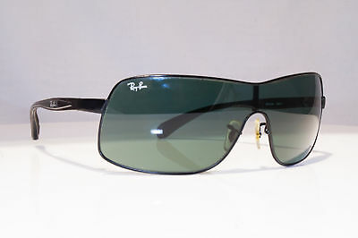 658074c4b24 RAY-BAN Mens Vintage Designer Sunglasses Black Shield RB 3244 006 71 18137