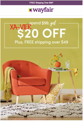 WE SHIP FAST! Wayfair $20 off $50 or More (New Accounts Only)