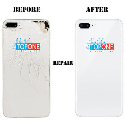 iPhone 8 plus Cracked Back Glass Broken Cover Repair Service