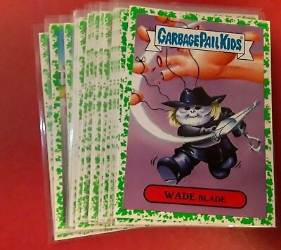 Lot of 12 Green 2018 GARBAGE PAIL KIDS OH THE HORROR-IBLE  GREEN PARALLEL GPK