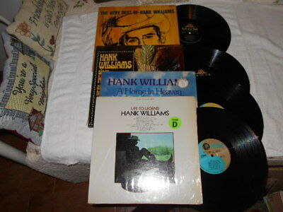 Lot Of 4 Hank Williams Life To Legend, A Home In Heaven, Very Best & Humoro Lp
