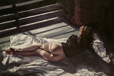NEW WILLIAM OXER ORIGINAL Bright new day pretty young girl sexy woman PAINTING