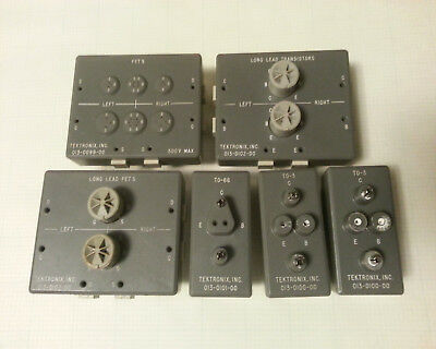 Tektronix Curve Tracer Test Fixtures, Lot of 6