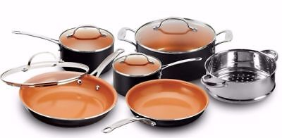 GOTHAM STEEL 10-Piece Kitchen Nonstick Frying Pan And Cookware Set - BRAND NEW