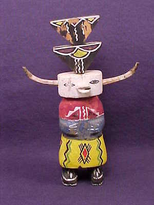Great OLD Primitive EARLY ROUTE 66 Carved Wooden HOPI KACHINA DOLL - 1930