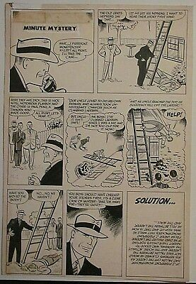 Dick Tracy original comic book art