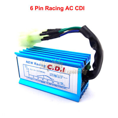6 Pin Racing CDI Ignition Box For GY6 50cc 125cc 150cc Moped Scooter ATV Quad