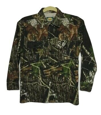 CABELA'S For Kids  Sz 12 Long Sleeve Button Down Thick Shirt Camouflage Print
