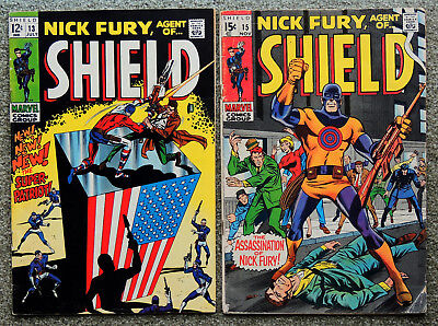 Nick Fury, Agent Of Shield, Marvel Comics Silver Age Lot Vintage 1969, #13 & #15