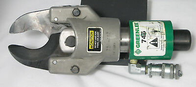 Greenlee 746 Hydraulic Knock Out Ram With 751 HEAD CUTTER
