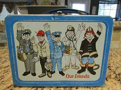 Vintage Good Old Very Rare 1973 Our Friends Metal Lunchbox