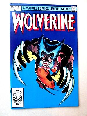 Wolverine #2. 1982. Nm/mt (9.8). Limited Series. Frank Miller Cover And Art