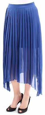 KENSIE $89 Womens New 1869 Blue Accordion Pleated Trapeze Casual Skirt S B+B