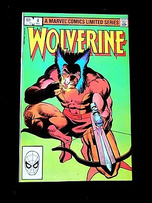 Wolverine #4. 1982. Nm/mt (9.8). Limited Series. Frank Miller Cover And Art