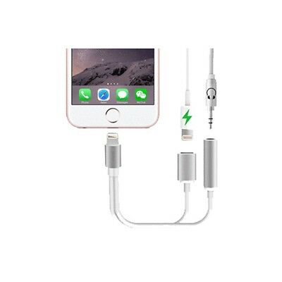 2 in 1 Earphone & Lightning Charger Adapter for iPhone