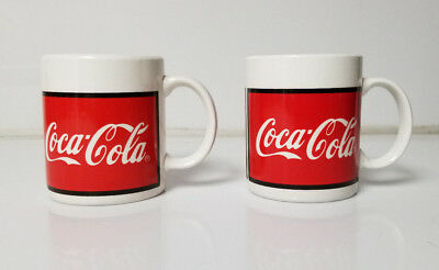 Coke Coca Cola Coffee Tea Mug lot of 2 Soda Cola