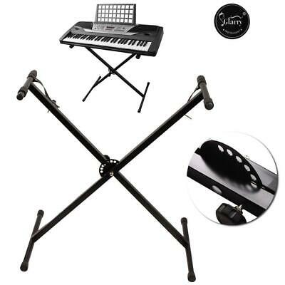 Keyboard Stand Single X Style Type Adjustable Electronic Piano Organ Rack Black