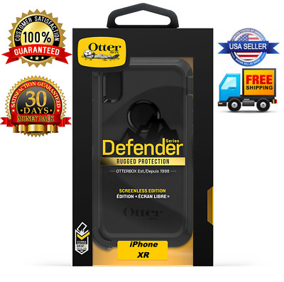 Otterbox Defender Case &  w/Holster for iPhone XR  (Black Color)