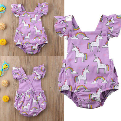 Summer Newborn Child Baby Flower Jumpsuit Girl Jumpsuit Bodysuit Clothing