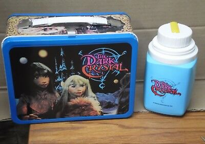 Vintage 1982  The DARK CRYSTAL Metal LUNCH BOX with THERMOS Henson inc