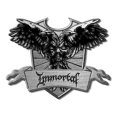 Immortal Crest Pin Button Badge Official Black Metal Band Merch New