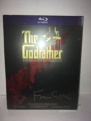 The Godfather Collection Trilogy (The Coppola Restoration) (Blu-ray) BRAND NEW