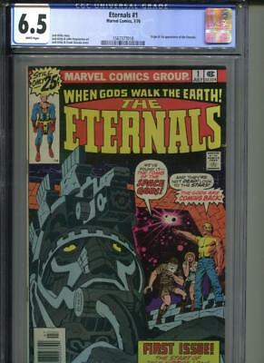 ETERNALS #1 CGC 6.5 WHITE Pages Origin & 1st Appearance of the Eternals