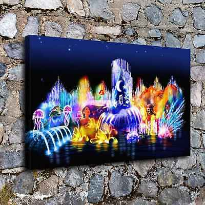 "12""x20"" Disney HD Canvas prints Painting Home Decor Picture Room Wall art Poster"