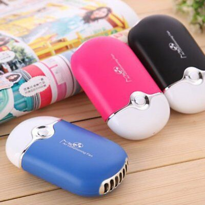 Mini Portable Handheld Desk Air Conditioner USB Rechargeable Cooling Fan OC