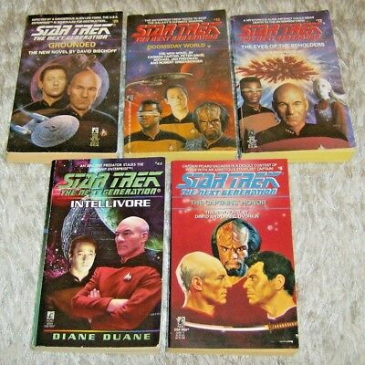 Star Trek: TNG, 5 Novels by various authors, Paperback Science Fiction