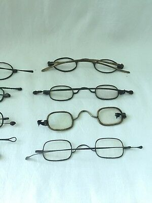 Antique Mixed LOT of 12 Silver and Gold Tone FRANKLIN Look Spectacles