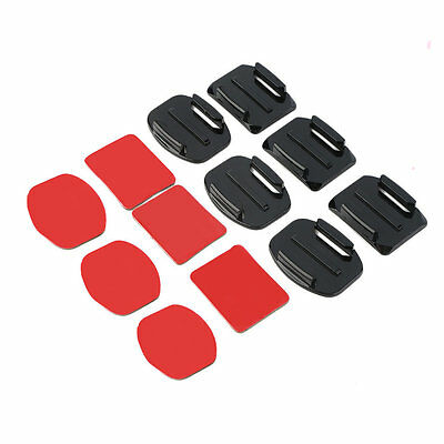 12Pcs Helmet Accessories Flat Curved Adhesive Mount For Gopro Hero 1/2/3 /3+ VG