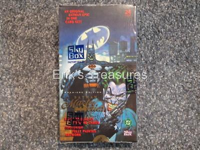 Skybox Batman Master Series Premiere Edition Cards Factory Sealed Box # 23,824