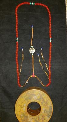 IMPORTANT CHINESE IMPERIAL COURT CHAO ZHU  NECKLACE - TONGZHI MARK w/ WOODEN BOX