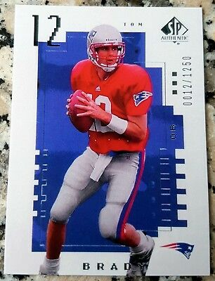 TOM BRADY 2000 SP Authentic Rookie Card RC San Mateo 6 Superbowl Rings Reprint $
