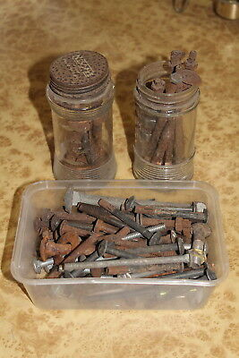 Bulk Lot 2.5 kg Vintage Antique Bolts - Primitive Rusty Steampunk Old Metal Art