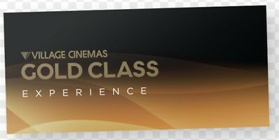 Village Cinemas Gold Class Experience Card ... Exp 25/7/19 Value $159 Free Post