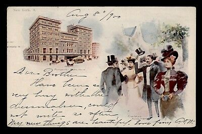 Dr Who 1900 New York Ny Patriographic Postcard C69961