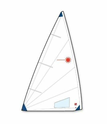 New Practise Laser Radial sail w/ class insignias, tell tales & Win