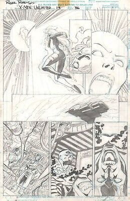 X-MEN: UNLIMITED 13 Page 36 UNPUBLISHED Original Art by Roger Robinson